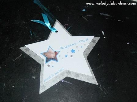 Faire part en forme d'étoile