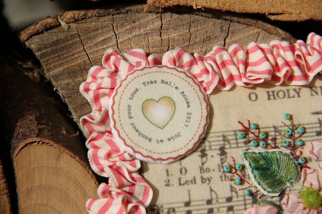 Carte de vœux textile, encore une...