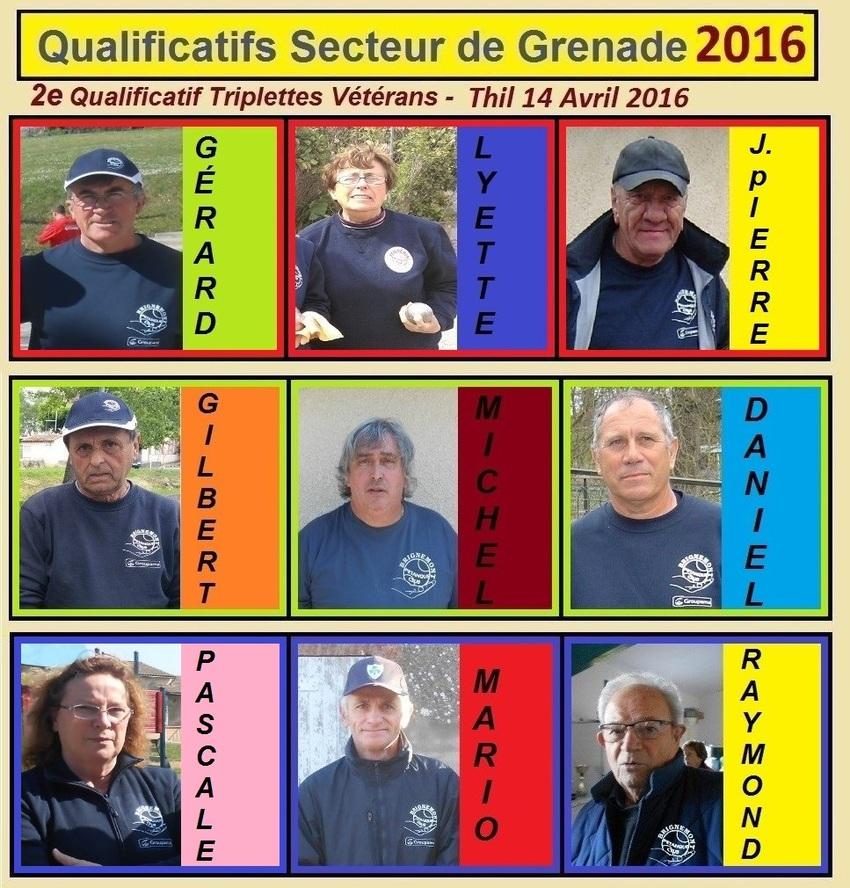 2ième Qualificatif Triplettes Vétérans à Thil.