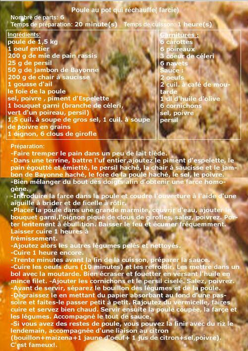 recettes de poules: au citron, aux olives ou farcies
