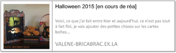 Halloween 2015 : les cartes tableaux de Dreaming Tree