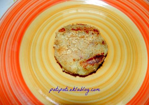 Palets de pomme de terre aux champignons-lardons