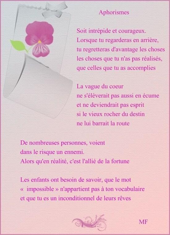Aphorismes...Marie Fleur