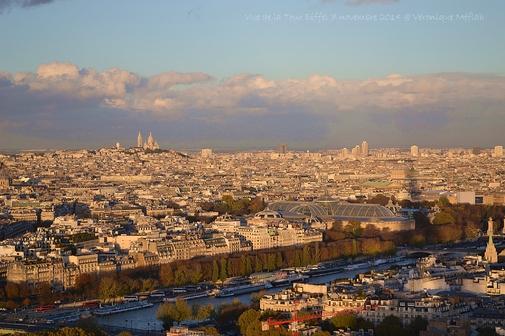 Vues de Paris : Coucher de soleil
