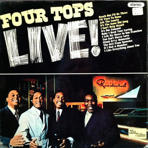 "The Four Tops : Album "" Live ! "" Motown Records MS-654 [ US ]"