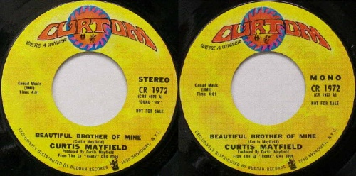 1972 : Single SP Curtom Records CR 1972 Promo / CR 1972 [ US ]