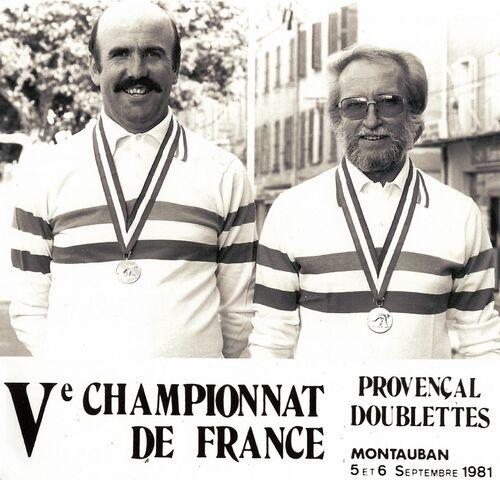Les Champions  de France JP doublettes