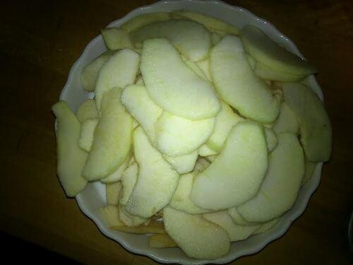 Une petite Tarte aux pommes et Caramel de Pomme Dieppois avec mon partenaire # Graine des Champs