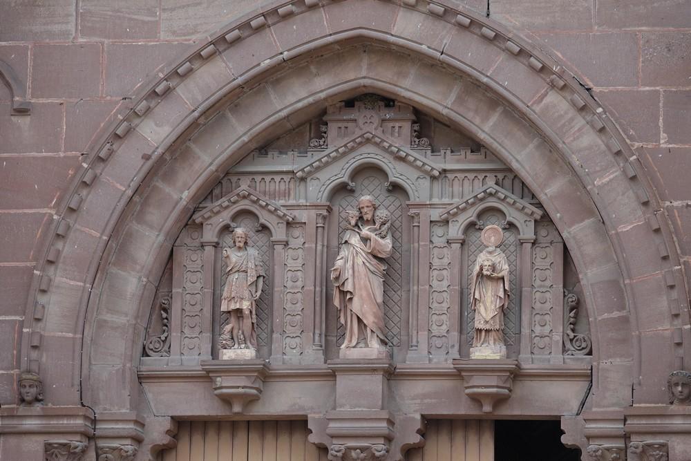 L'église Saint-Jean-Baptiste d'Espalion : l'intérieur...