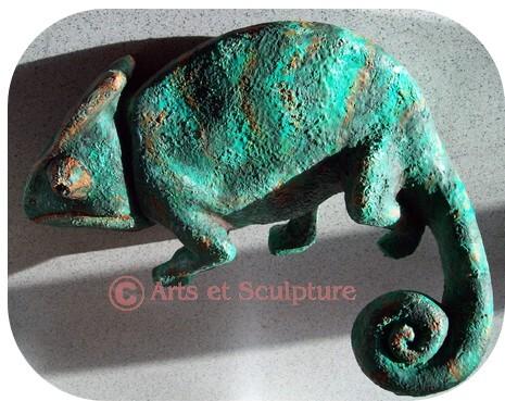 sculpture animalière cameleon - Arts et Sculpture: sculpteur, artisan d'art