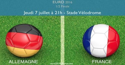EURO 2016 : 2ème demi-finale Allemagne - France