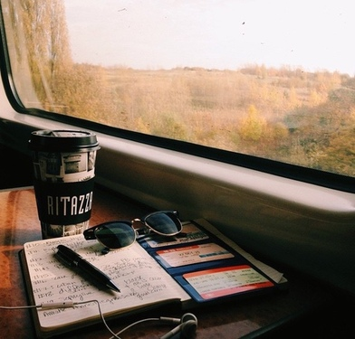 Image de travel, coffee, and book