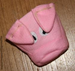 Marionnette cochon