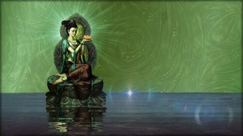 fond déesse lotus