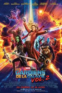 """Les Gardiens de la Galaxie 2 : Musicalement accompagné de la """"Awesome Mixtape n°2"""" (la musique qu'écoute Star-Lord dans le film), Les Gardiens de la galaxie 2 poursuit les aventures de l'équipe alors qu'elle traverse les confins du cosmos. Les gardiens doivent combattre pour rester unis alors qu'ils découvrent les mystères de la filiation de Peter Quill. Les vieux ennemis vont devenir de nouveaux alliés et des personnages bien connus des fans de comics vont venir aider nos héros et continuer à étendre l'univers Marvel. ... ----- ... Origine : américain  Réalisation : James Gunn (II)  Durée : 2h 16min  Acteur(s) : Chris Pratt,Zoe Saldana,Dave Bautista  Genre : Action,Science fiction,Comédie  Date de sortie : 26 avril 2017  Année de production : 2017  Distributeur : The Walt Disney Company France  Critiques Spectateurs : 4,4  Critiques Presse : 4,4"""