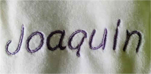 Broderie : Joaquin