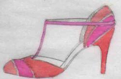 talons, dessin chaussures,sandales à talons