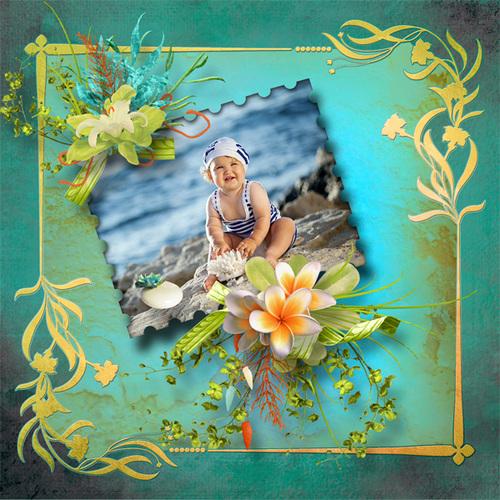 """Kit """"Dreamy island"""" une collaboration de Kastagnette et Scrap'Angie"""