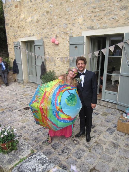 Le mariage des parapluies...