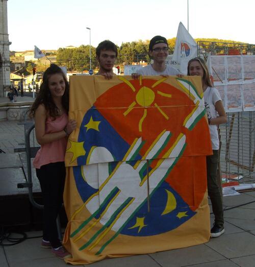 Bannière réalisée par les élèves de St Joseph d'Ustaritz