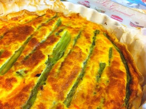 Recette de tarte aux asperges et à l'orange!
