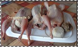 Cailles en Cocotte Sauce Morilles et Foie Gras