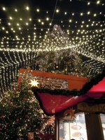 Sternenzelt am Weihnachtsmarkt