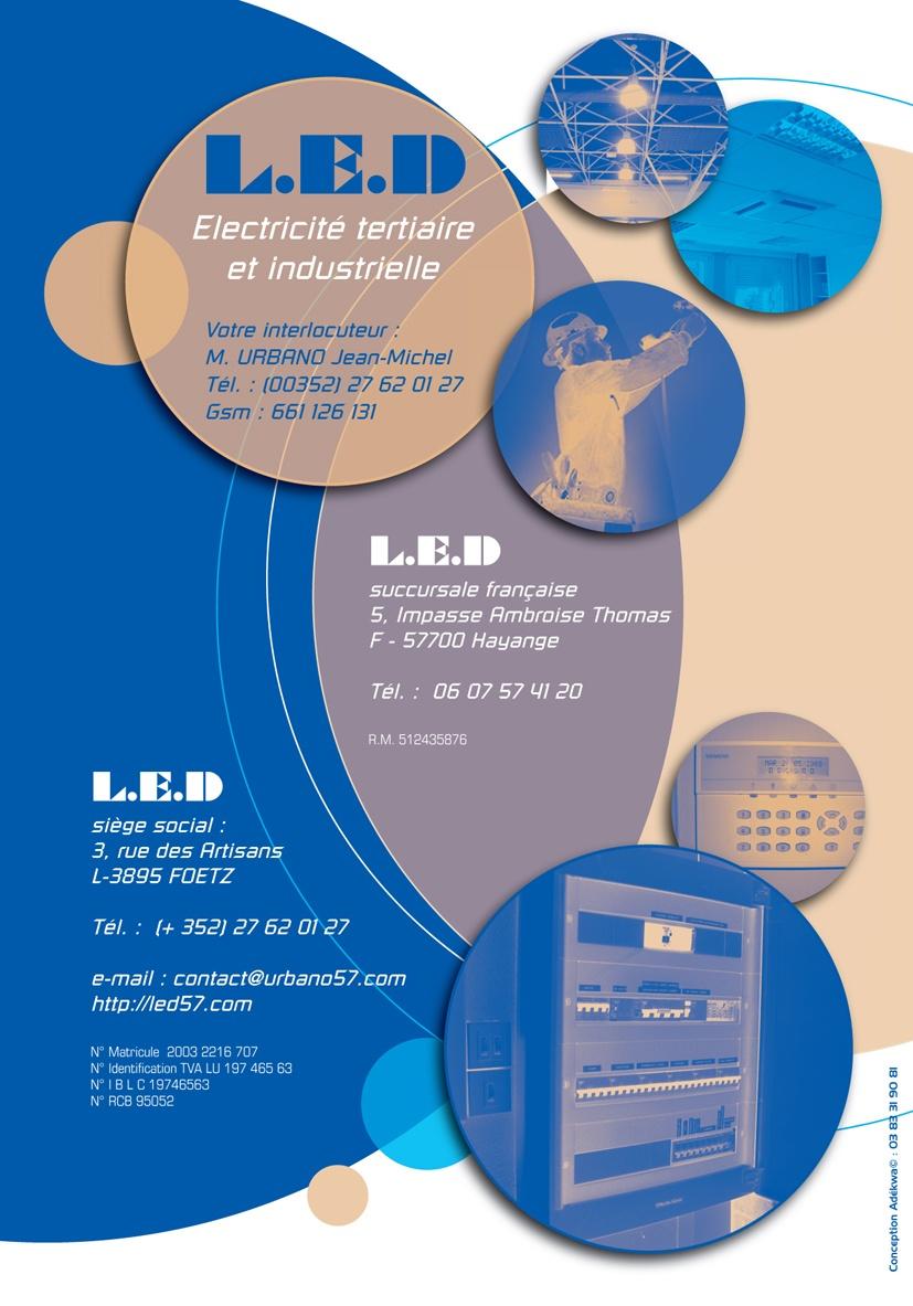 Extrêmement Plaquette pour une entreprise d'électricité industrielle - Adékwa FX42