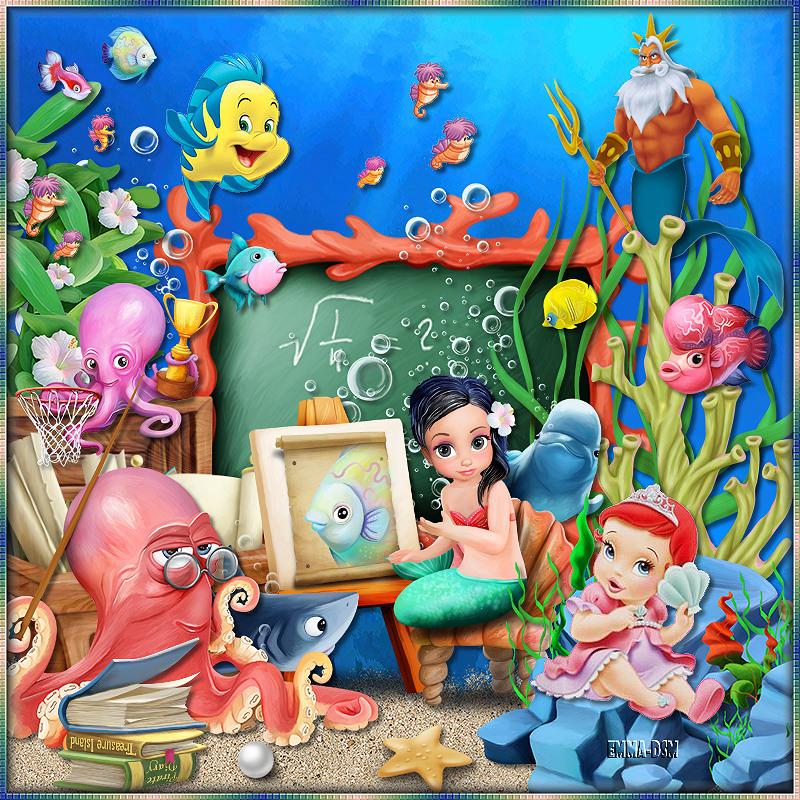 L'école de la petite sirène