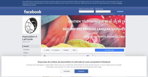 A Lait'coute page facebook