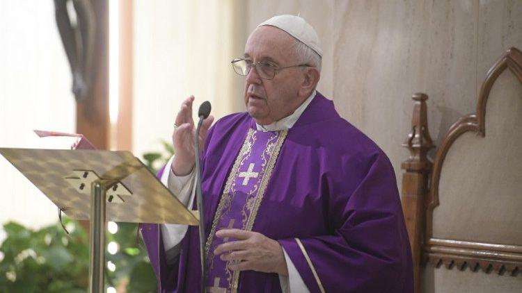 Le Pape lors de la messe du 10 décembre 2019.