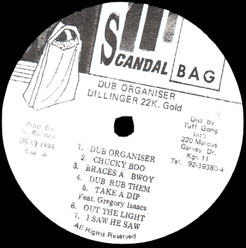 "Dillinger : Album "" Dub Organiser "" Scandal Bag Records [JA] 1979"