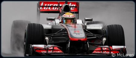 GP Angleterre : Essais libres 1 - Hamilton 3°, Button 17°