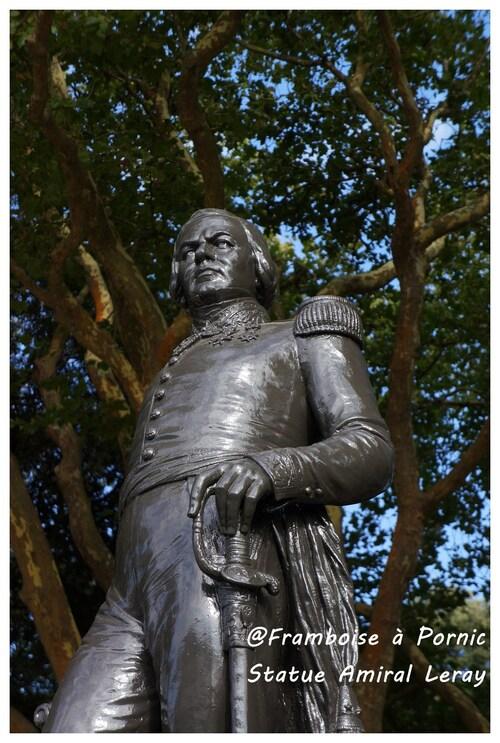 Pornic, inauguration de la Statue du Contre-Amiral LE RAY