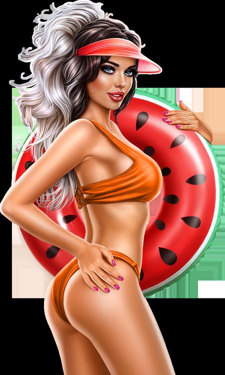 Tubes Femmes en Orange/Jaune
