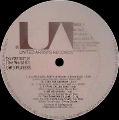 """Ohio Players : Album """" The Very Best Of (The World Of) Ohio Players """" United Artists Records UA-LA502-E [ US ]"""