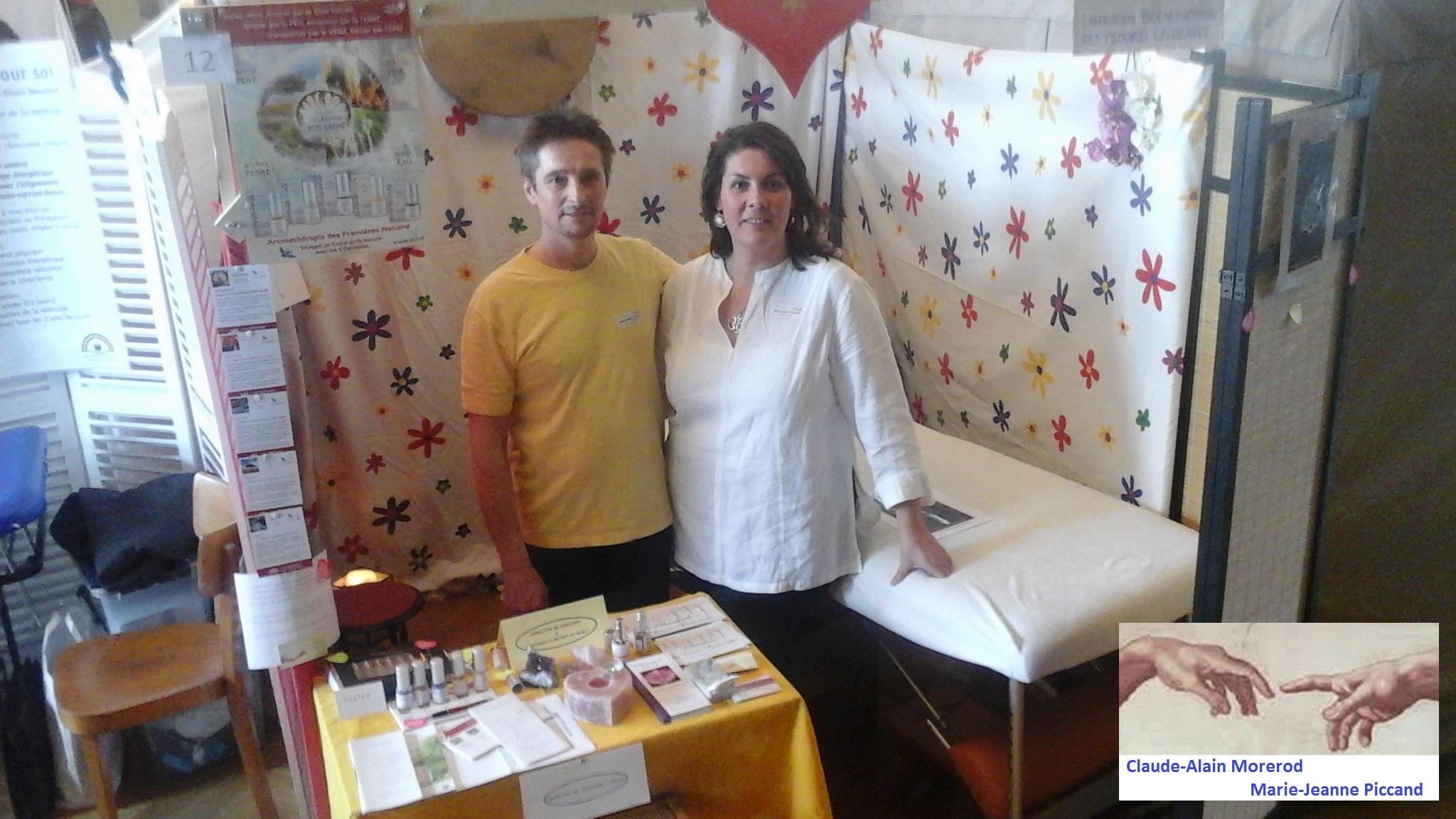 Claude-Alain Morerod et Marie-Jeanne Piccand - salon bien-être Le Mouret 2016