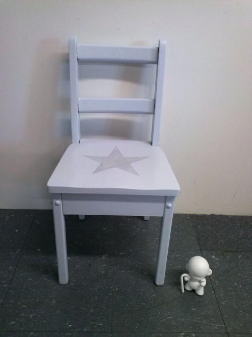 Collection GRIGRIS PERLE : la petite chaise argent