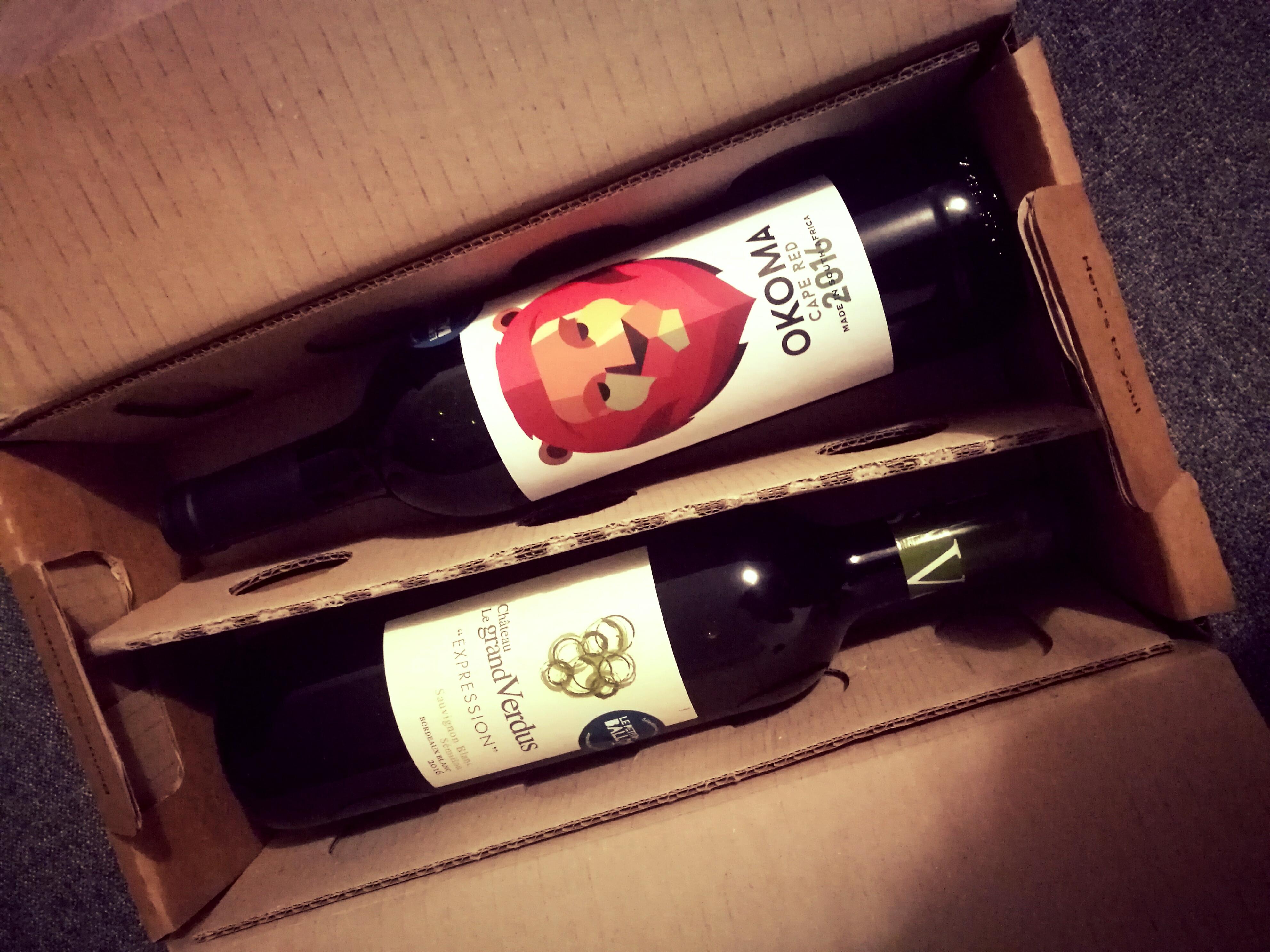 Le petit ballon - Découverte d'une boxe de vins