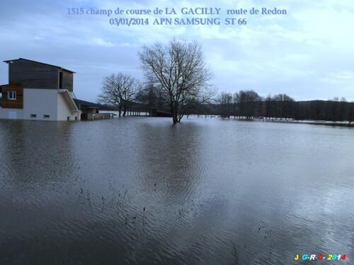 INONDATIONS DU PAYS DE LA  GACILLY  56   04/01/2014