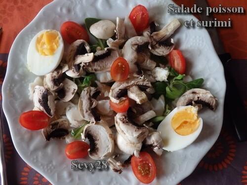 Salade de poisson et surimi