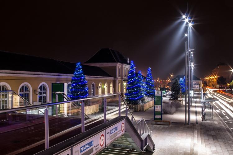 Roanne, le soir #39, gare SNCF, décembre 2013