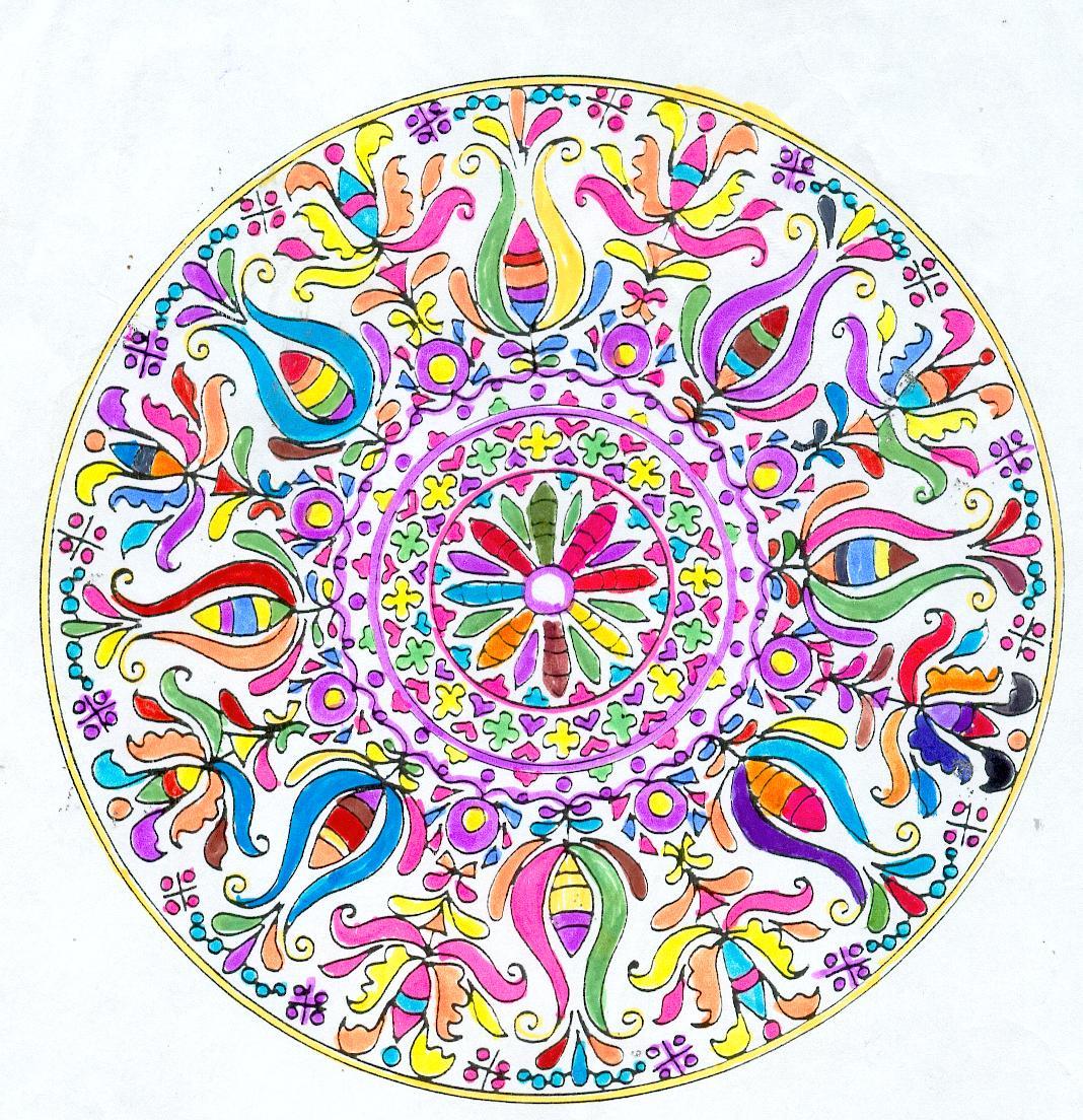 Pour mademoiselle may mod les fleuris au couleurs - Modele de mandala ...