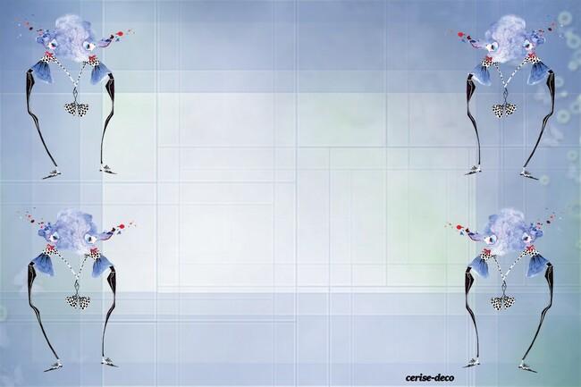 design bleu : les deux miss
