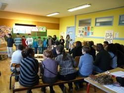 Décembre 2012 : représentation de théâtre devant les parents d'élèves