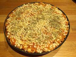 Gâteau de macaronis géants gratiné à la bolognaise