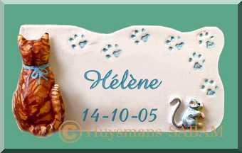Souvenir de naissance,baptême, fête personnalisable chat et souris - Arts et sculpture: sculpteur, sculptrice, artisans d'art