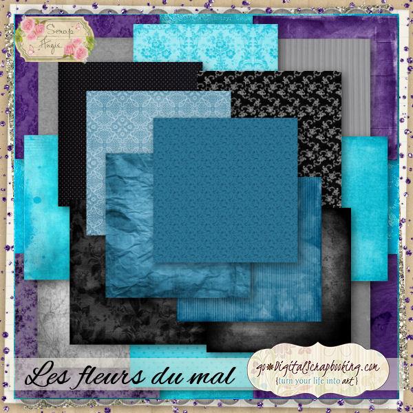 """""""Les fleurs du mal"""" by Scrap'Angie"""