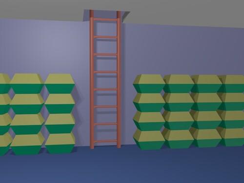 Mettre un array et un mirror modifier sur l'objet fera une échelle