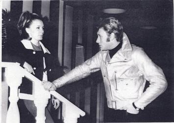 Jenny ROCK avec Johnny HALLYDAY